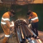 Pinion Bearing removal at Cadia
